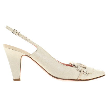 Salvatore Ferragamo Sling-Pumps in Beige