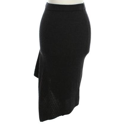 All Saints Knit skirt in dark gray
