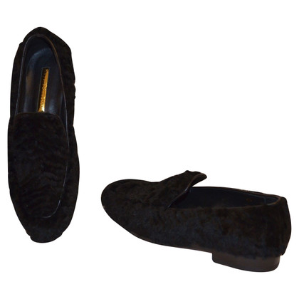 Rupert Sanderson Loafer with rabbit fur