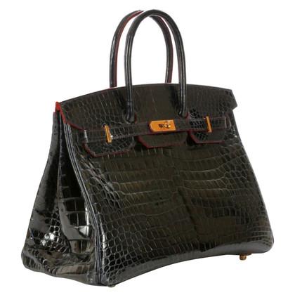 "Hermès ""Birkin Bag 35 Crocodylus Porosus Bleu Marine"""