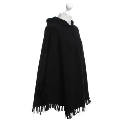 Dolce & Gabbana Cashmere poncho in zwart
