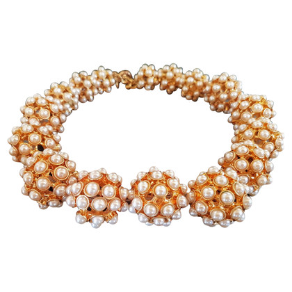 J. Crew Gold and pearl necklace