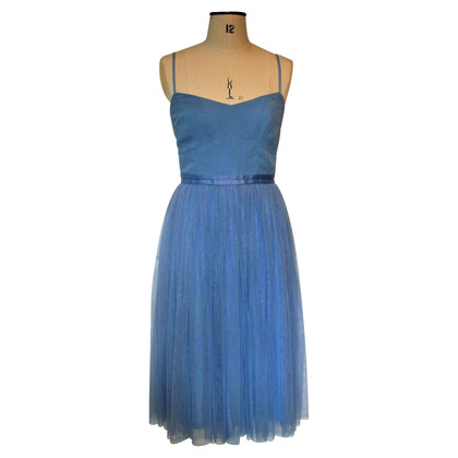 Needle & Thread Robe Tulle Bleue