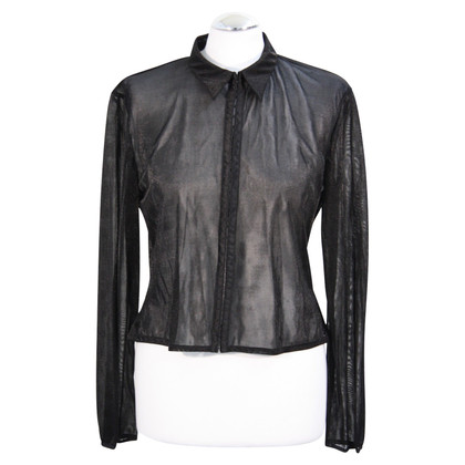 Karen Millen Transparent blouse in black