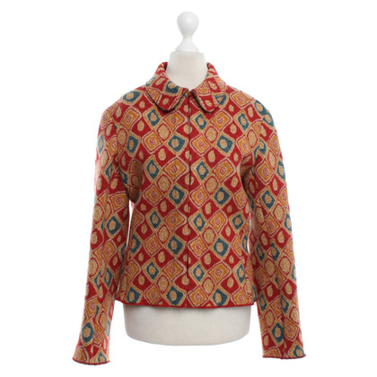 Alaïa Wollblazer mit Muster