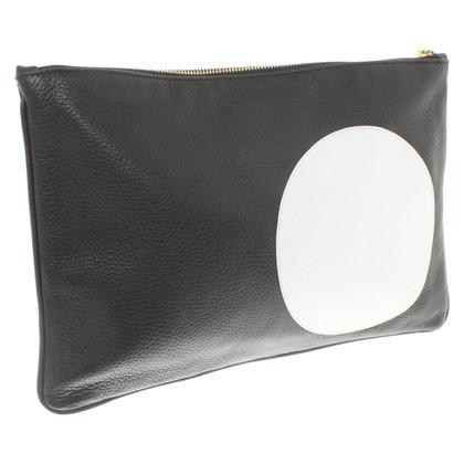 Jil Sander clutch in zwart / wit