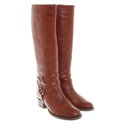Ralph Lauren Leather Boots in Brown