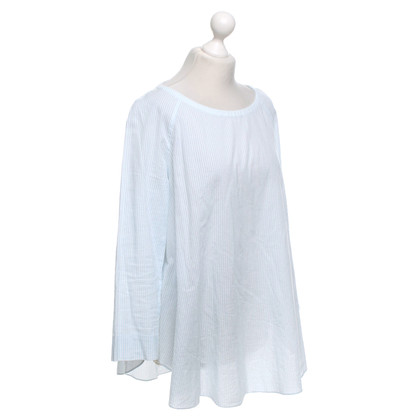 Cos Bluse mit Streifenmuster in Blau/ Weiß