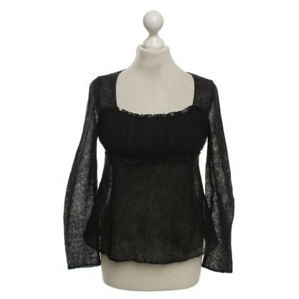 Miu Miu Gebreide trui in zwart