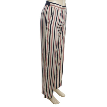 By Malene Birger Silk trousers in Multicolor