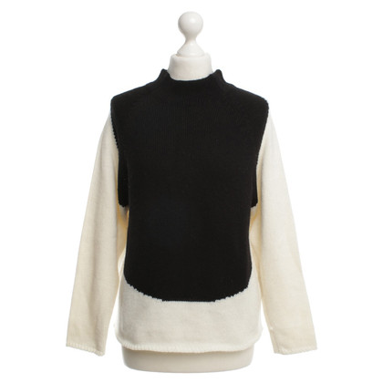 Drykorn Knit sweater in Black / White