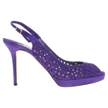 Jimmy Choo Peeptoes in Violet