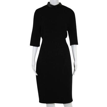 Talbot Runhof Jurk met nieuwe wol in zwart