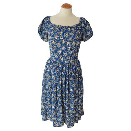 Prada Vestito blu con stampa