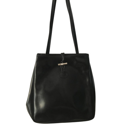 "Longchamp Borsa a tracolla ""Roseau"" in nero"
