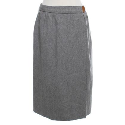 Hermès Wrap skirt in grey