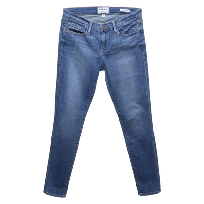 Frame Denim Skinny-Jeans in Blau