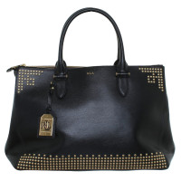Ralph Lauren Leather handbag in black