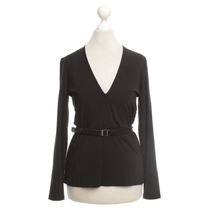 Gucci Black blouse with belt