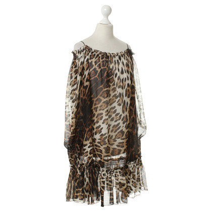 Roberto Cavalli Silk dress with pattern