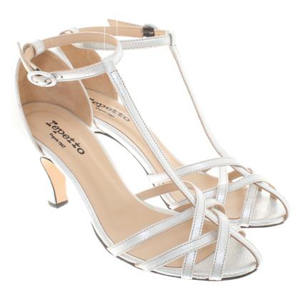 Repetto Sandals in silver