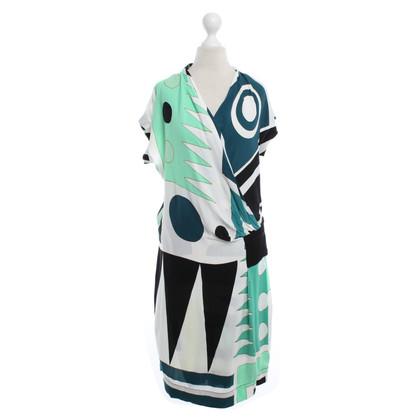 Diane von Furstenberg Short sleeve dress with pattern