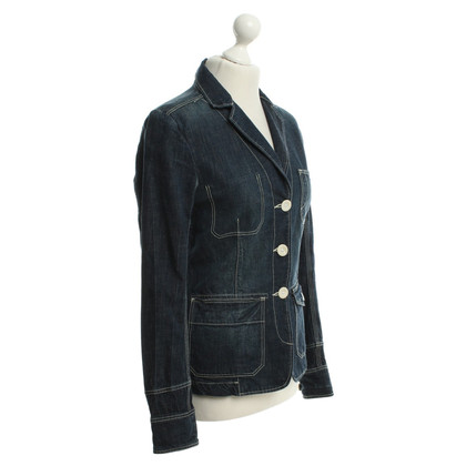 Closed Jeansblazer in blauw