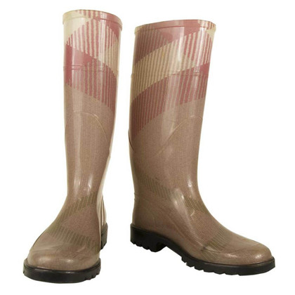 Burberry Pink Wellingtons