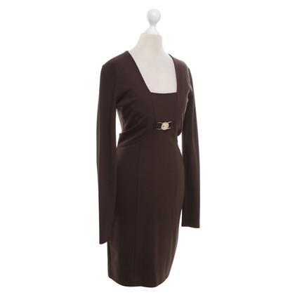Versace Jersey dress in brown
