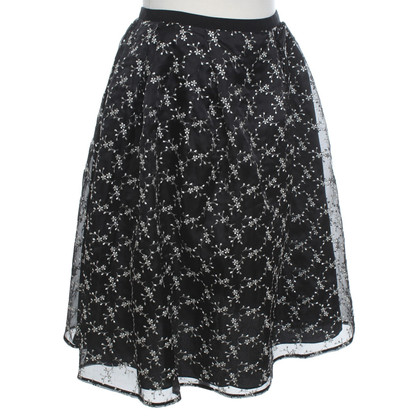 Erdem Silk skirt with embroidery