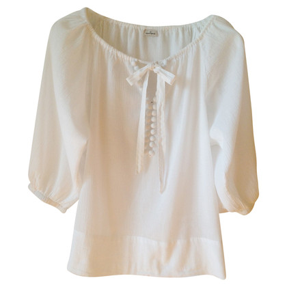 By Malene Birger Cotton blouse in white