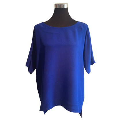 Tibi Camicetta di seta blu reale
