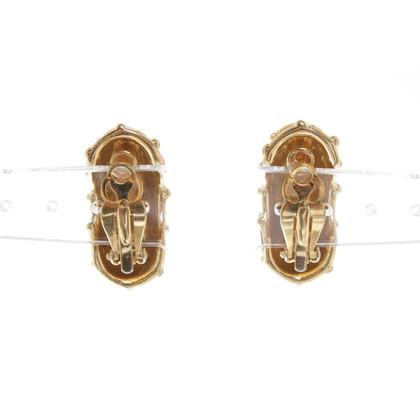 Givenchy orecchini mezzo del cerchio con la clip
