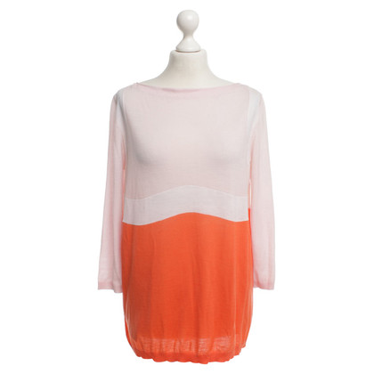 Prada Pullover in Rosa/Weiß/Orange