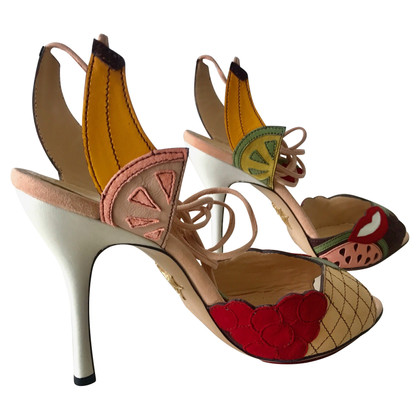 Charlotte Olympia Sandals with fruit elements