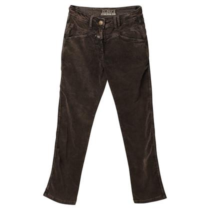 Closed Pantaloni di velluto marrone