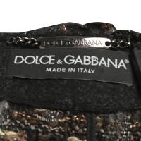 Dolce & Gabbana Bouclé-Cape with lambskin