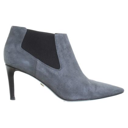 Diane von Furstenberg Tronchetto di camoscio grigio