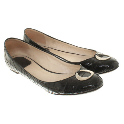 Christian Dior Patent leather ballerinas in black