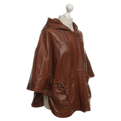 Hoss Intropia Leather cape in brown