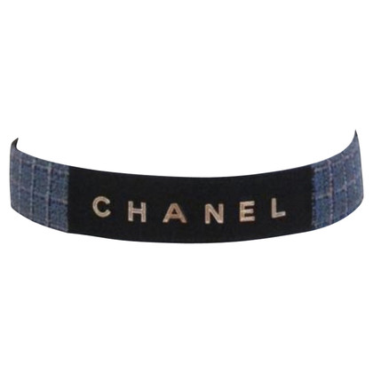 Chanel Tie belt made of tweed