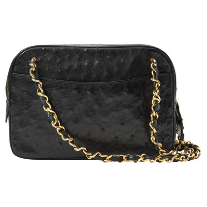 Chanel Ostrich leather shoulder bag