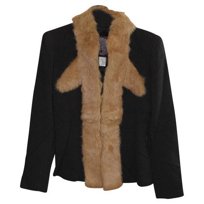 John Galliano Jacket with rabbit fur