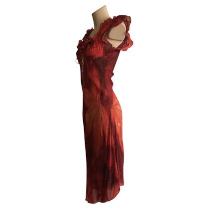 Roberto Cavalli Seidenkleid in Rot
