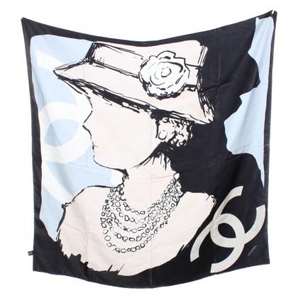 Chanel Foulard in seta con stampa a motivi