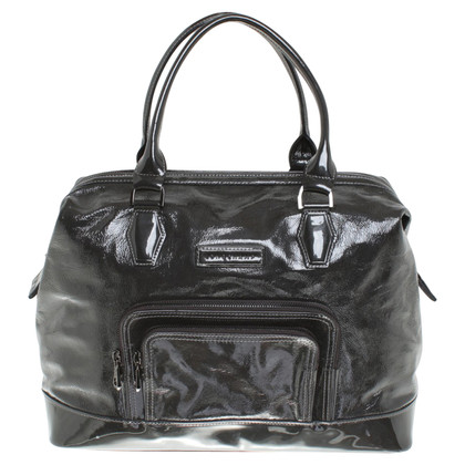 Longchamp Patent leather handbag in anthracite