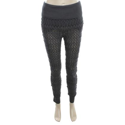 Missoni Crochet trousers in petrol
