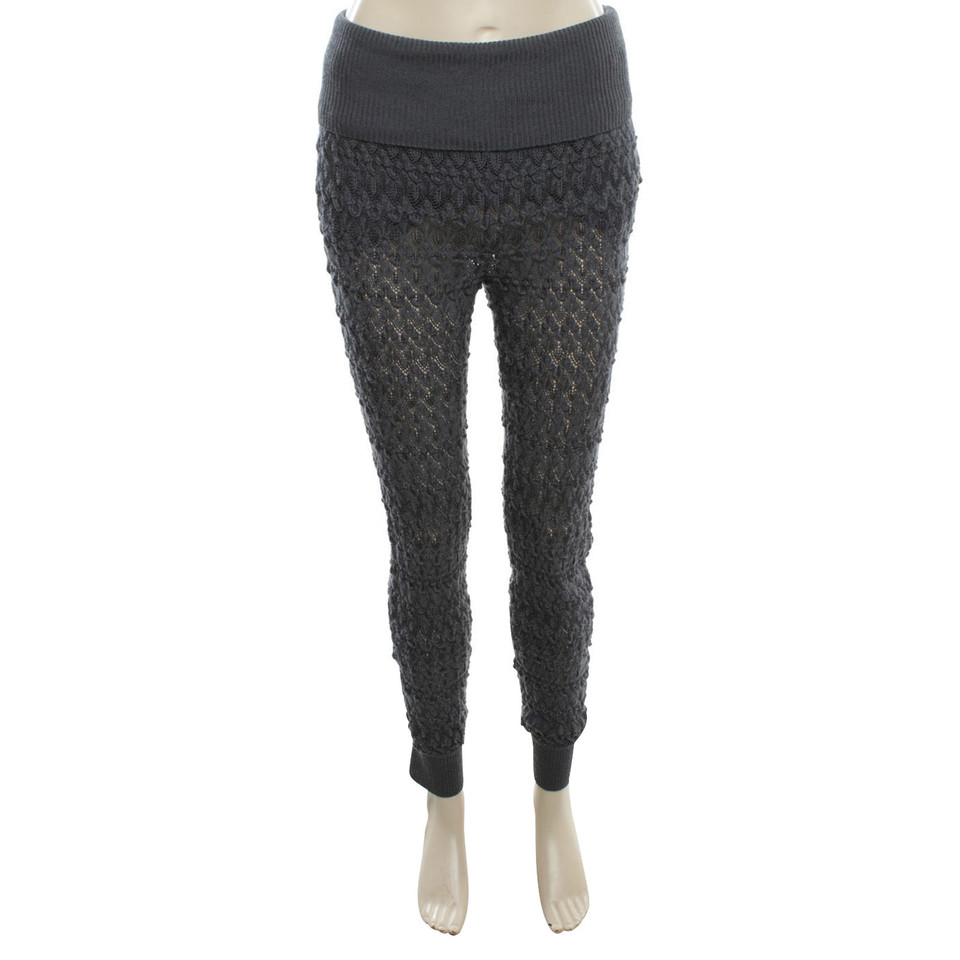 Missoni Crochet trousers in petrol