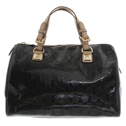 Michael Kors Patent leather handbag in black