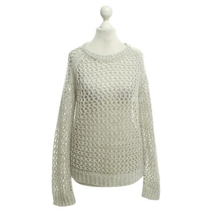 Iro maglia maglione in grigio argento